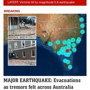 メルボルンで地震!!