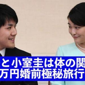 眞子様と小室圭は体の関係は?6,000万円婚前旅行やイギリス留学時を調査