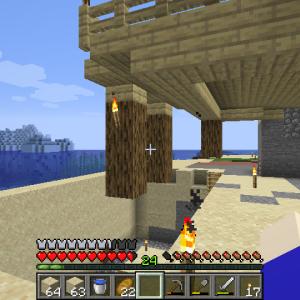 端っこ島開拓・島の上に建てないの?