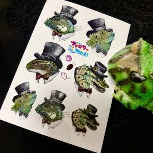 爬虫類グッズ!はちゅシールを作成しました。どなたでも印刷可能です♪