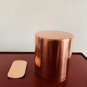 待つ楽しみ〜職人技が光る銅製の茶筒