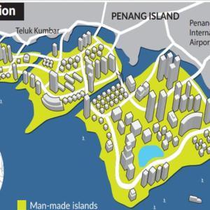 ニュース記事要約:マレーシアペナン島南部の埋め立て工事は2021年より開始予定