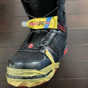 スノーボードブーツのソールが剥がれたので修理
