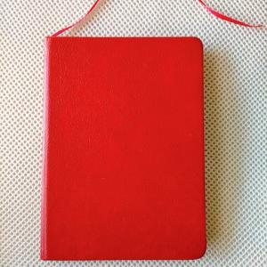 赤いノートに「ありがとう」を書きまくる