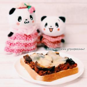 【おうちごはん】ミートチーズトーストの朝ご飯!