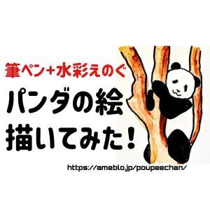 【お絵描き動画】木に登ったパンダの絵を描いてみた!