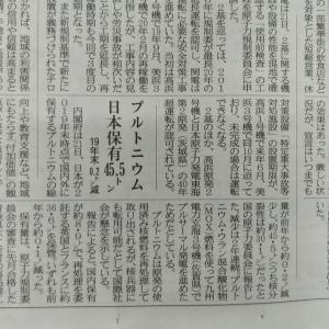 昨日の愛媛新聞から、プルトニウムの話
