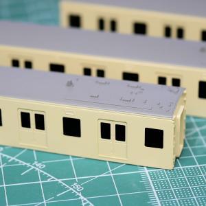 京王6000系(臙脂帯の5扉車)を作る【3】