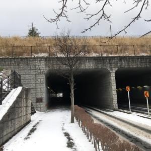 雪国のランナーの冬の練習その2(山手台地下道)