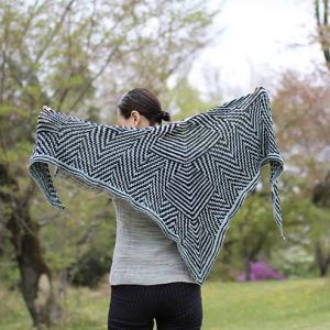 Crossroad shawl リリースしました!