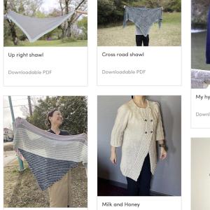 Crossroad shawl 本日までセールです!そして新しいテストニットなどなど。