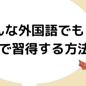 【外大生の感想】どんな外国語でも半年でマスターしてしまう方法について