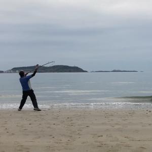 キスの投げ釣り時の自分のキャスティングフォームを動画撮影してみました