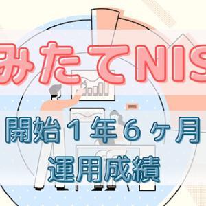 【つみたてNISA】運用1年6ヶ月目の運用成績!〜なるべく早く始めちゃいましょう〜