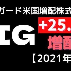 【VIG配当金】バンガード社の米国連続増配株式ETF・VIGの2021年9月配当金【最強ETF!】運用実績も公開