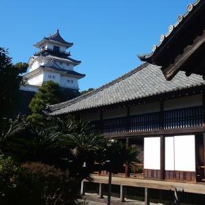 木造再建天守と現存二ノ丸御殿・掛川城