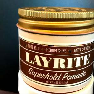 レイライトスーパーホールドポマード:特徴、使い心地レビュー(LAYRITE Superhold Pomade)