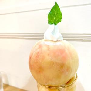 cafe ioaで桃のパフェ*千本一条*