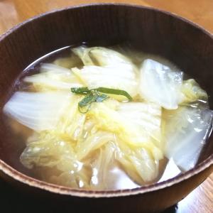 白菜のとろみ付け和風スープ