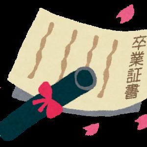 長女の卒業式へ(2021年3月19日)