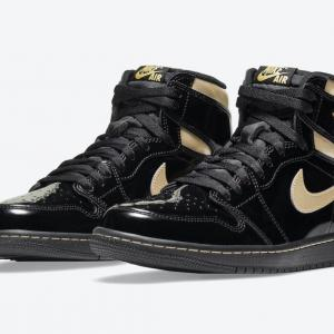 "【11月30日発売】NIKE AIR JORDAN 1 HIGH OG ""BLACK METALLIC GOLD"""