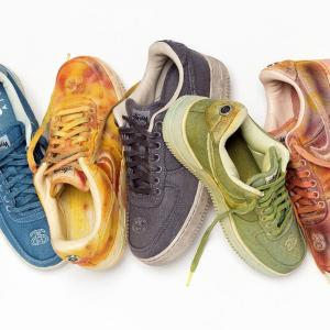 "【海外1月29日発売】Stüssy x NIKE AIR FORCE 1 ""HAND DYED"""