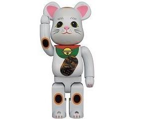 【7月24日~25日発売】BE@RBRICK 招き猫 白メッキ 発光 400%