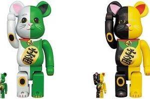 【9月25日~26日発売】BE@RBRICK 招き猫 白×緑/黒×黄 100% & 400%・1000%