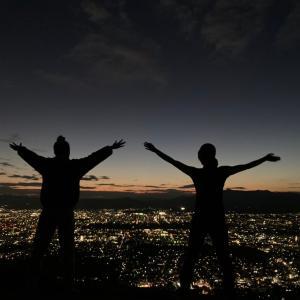 大文字山で夕陽(夜景)を眺めると幸せな気持ちになる
