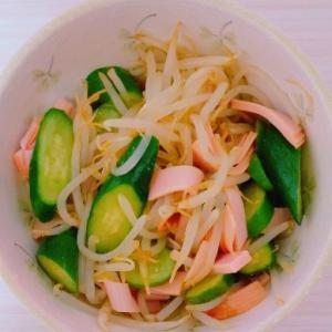 【超簡単混ぜるだけ・ダイエットにも◎】もやしの中華風サラダ:大学生の自炊日記①