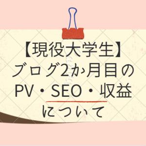 【現役大学生がブログ2か月継続してみた→SEO評価が...!】アクセス・PVは?収益化は?【1か月目と比較して】