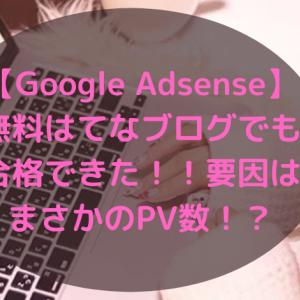 【2020年11月】無料はてなブログでもアドセンス合格できた!!要因はまさかのPV数!?