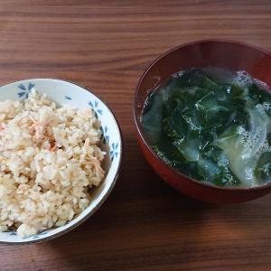カニカマと油揚げの炊き込みご飯