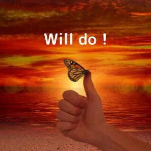 Will do! 了解!やっときます!