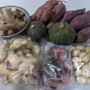 妹宅からたくさんのお野菜をいただきました