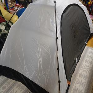 テント建ててみた!