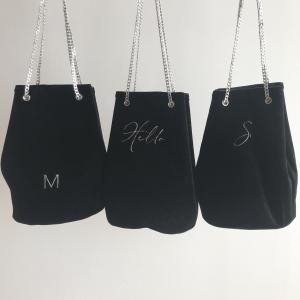 【10月納品分のご紹介】ベロア巾着チェーンバッグ