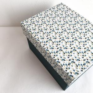 【カルトナージュ】かぶせ蓋の箱を作りました