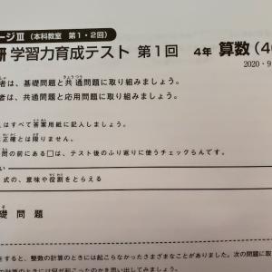 【日能研】後期第1回学習力育成テスト 小4  結果