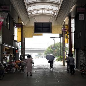 土砂降りの雨に打たれて、