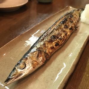 さんまの味、今年初めての新サンマをいただきました。山口大亭東店にて。