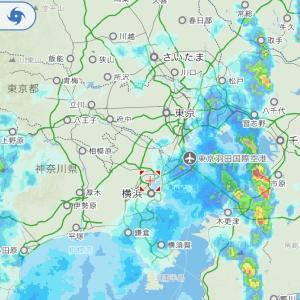 突然の豪雨の関東地方