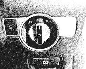 ヘッドライト スイッチパネル装着