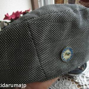 グレンチェックでベレー帽