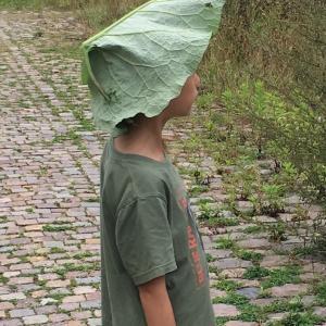 晴雨兼用 森の葉っぱ帽