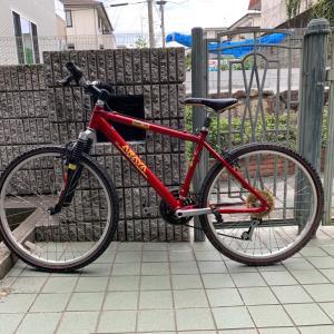 古い自転車を修理します③ サビをとる。