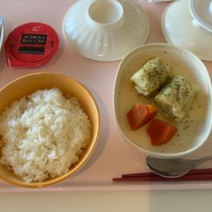 病院食 ロールキャベツの朝食