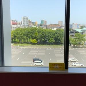 病院の窓から見える景色
