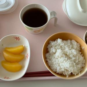 病院食 ツクネ煮と海苔の朝食