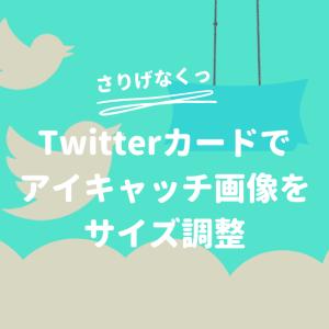 【サイズ調整も】Twitterカードでアイキャッチ画像を表示する